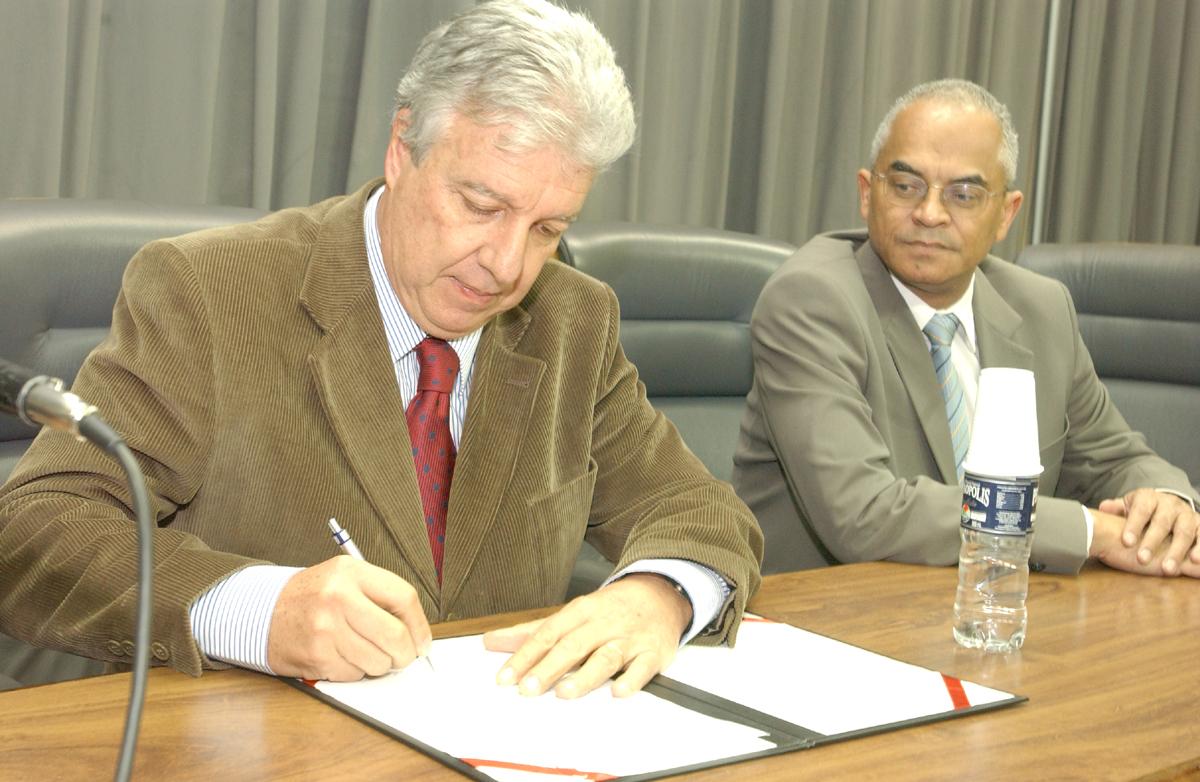 Deputados Fausto Figueira e Nivaldo Santana