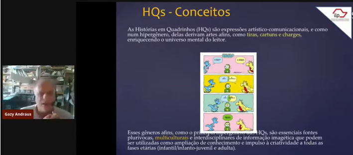 Prof. Gazy explanando sobre o conceito de HQs<a style='float:right' href='https://www3.al.sp.gov.br/repositorio/noticia/L-06-2021/fg269120.png' target=_blank><img src='/_img/material-file-download-white.png' width='14px' alt='Clique para baixar a imagem'></a>
