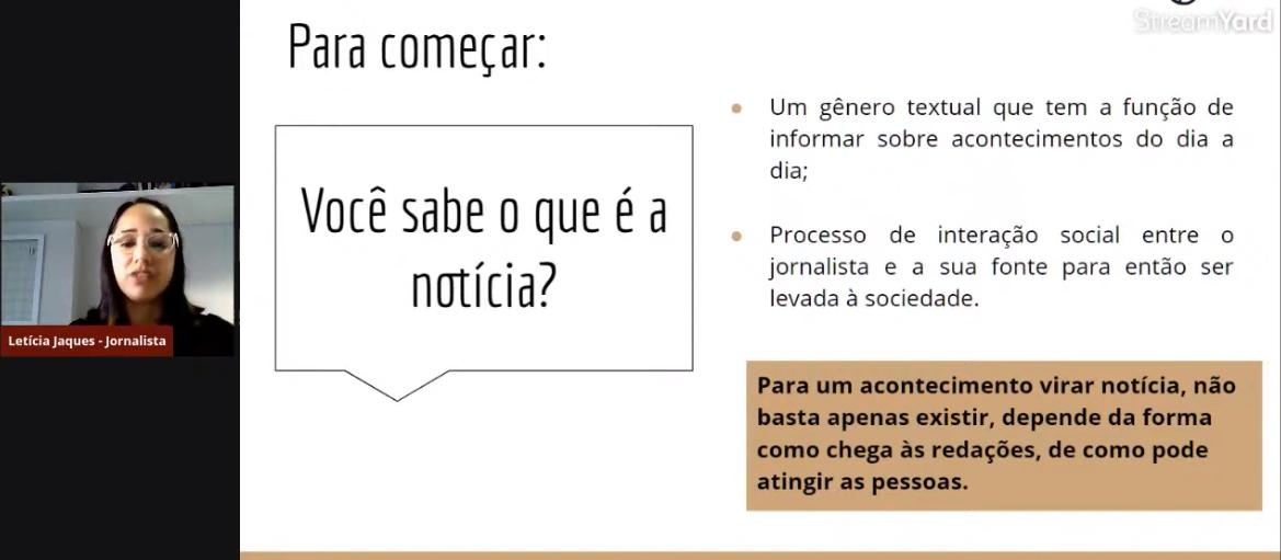 A jornalista Letícia conceituando o que é Notícia<a style='float:right' href='https://www3.al.sp.gov.br/repositorio/noticia/L-06-2021/fg269513.png' target=_blank><img src='/_img/material-file-download-white.png' width='14px' alt='Clique para baixar a imagem'></a>