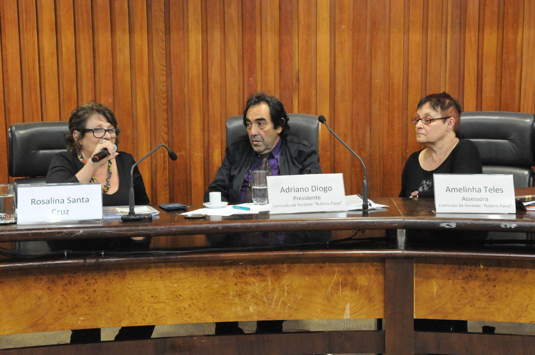 Rosalina Santa Cruz, Adriano Diogo e Amelinha Teles