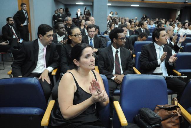 Presentes na audiência integrantes da Banda Sinfônica do Estado de São Paulo
