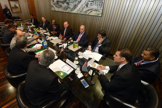 Presidente Fernando Capez durante a reunião da Unale