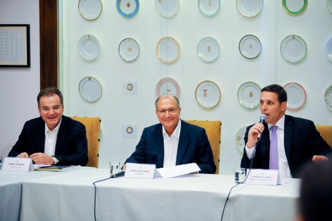 Samuel Moreira, Geraldo Alckmin e Fernando Capez