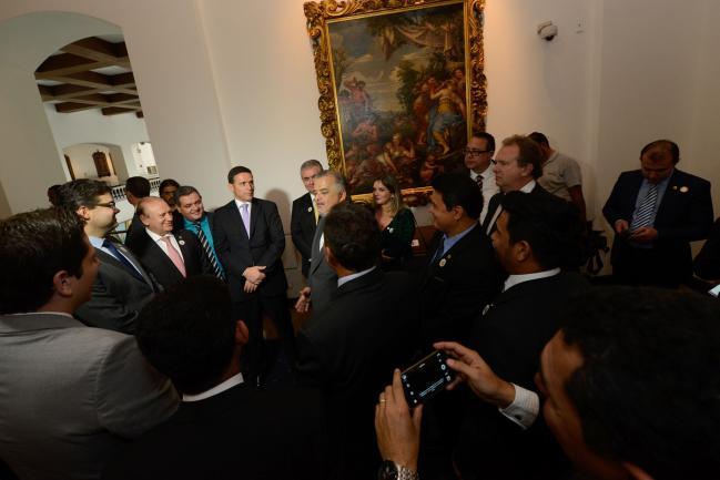 Parlamentares e Marcio França, vice-governador