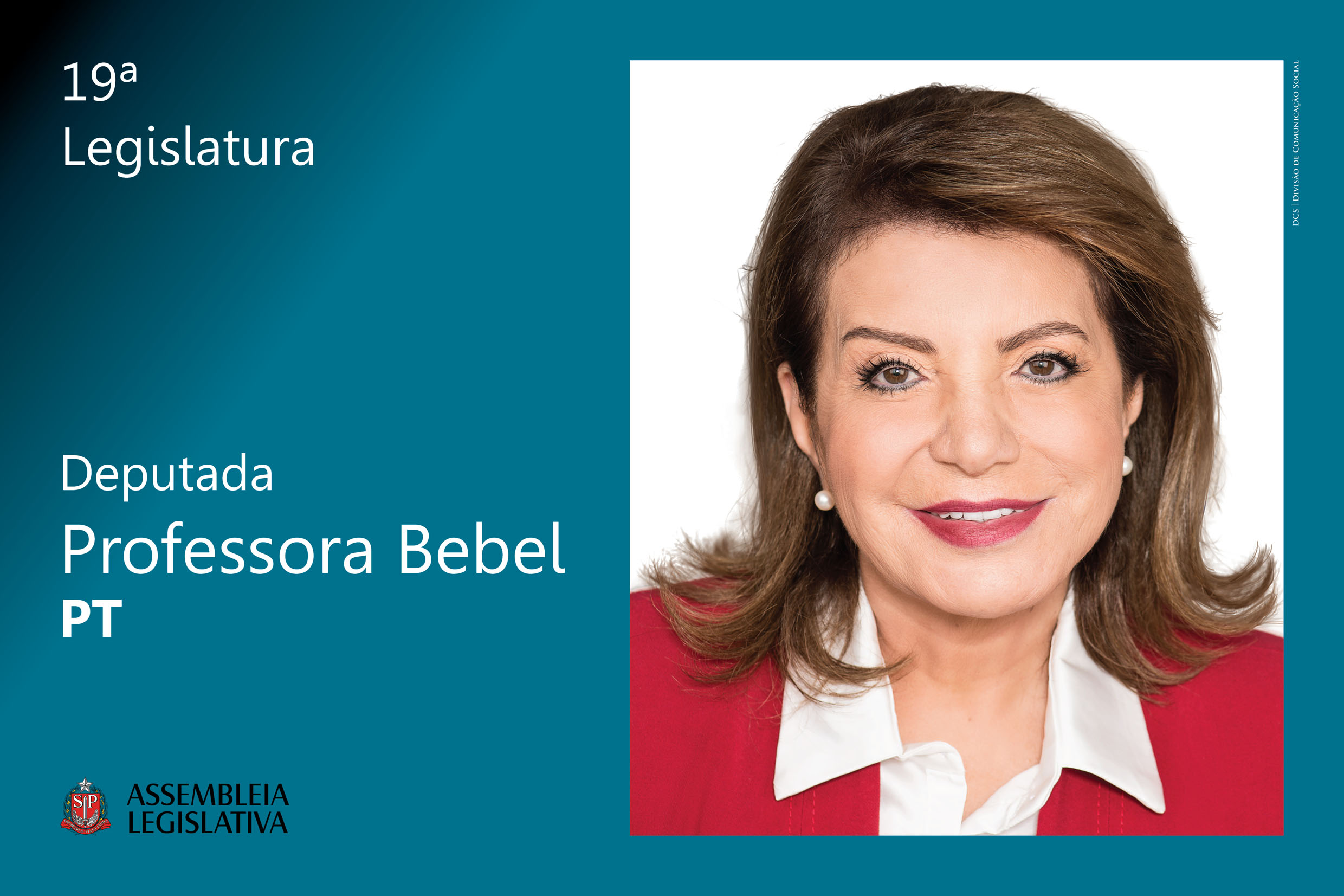 Professora Bebel (PT)<a style='float:right' href='https://www3.al.sp.gov.br/repositorio/noticia/N-03-2019/fg231274.jpg' target=_blank><img src='/_img/material-file-download-white.png' width='14px' alt='Clique para baixar a imagem'></a>