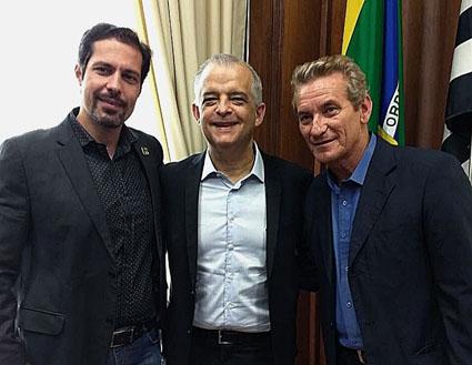 Giulio Pires, Márcio França e Ed Thomas