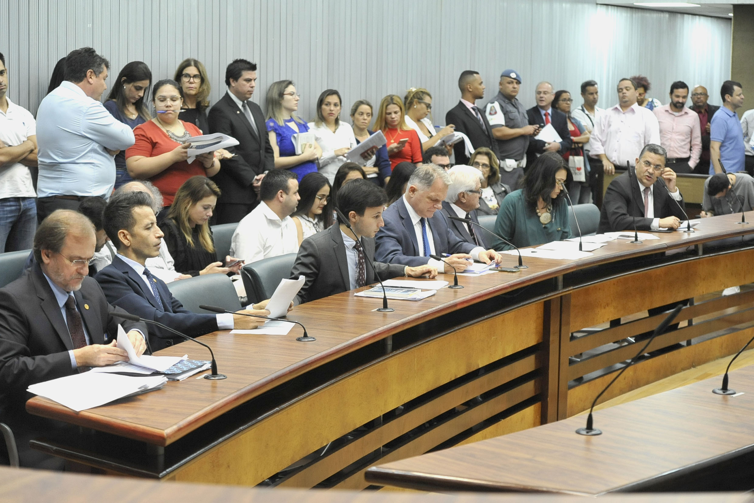 Parlamentares na comissão<a style='float:right' href='https://www3.al.sp.gov.br/repositorio/noticia/N-04-2019/fg233419.jpg' target=_blank><img src='/_img/material-file-download-white.png' width='14px' alt='Clique para baixar a imagem'></a>