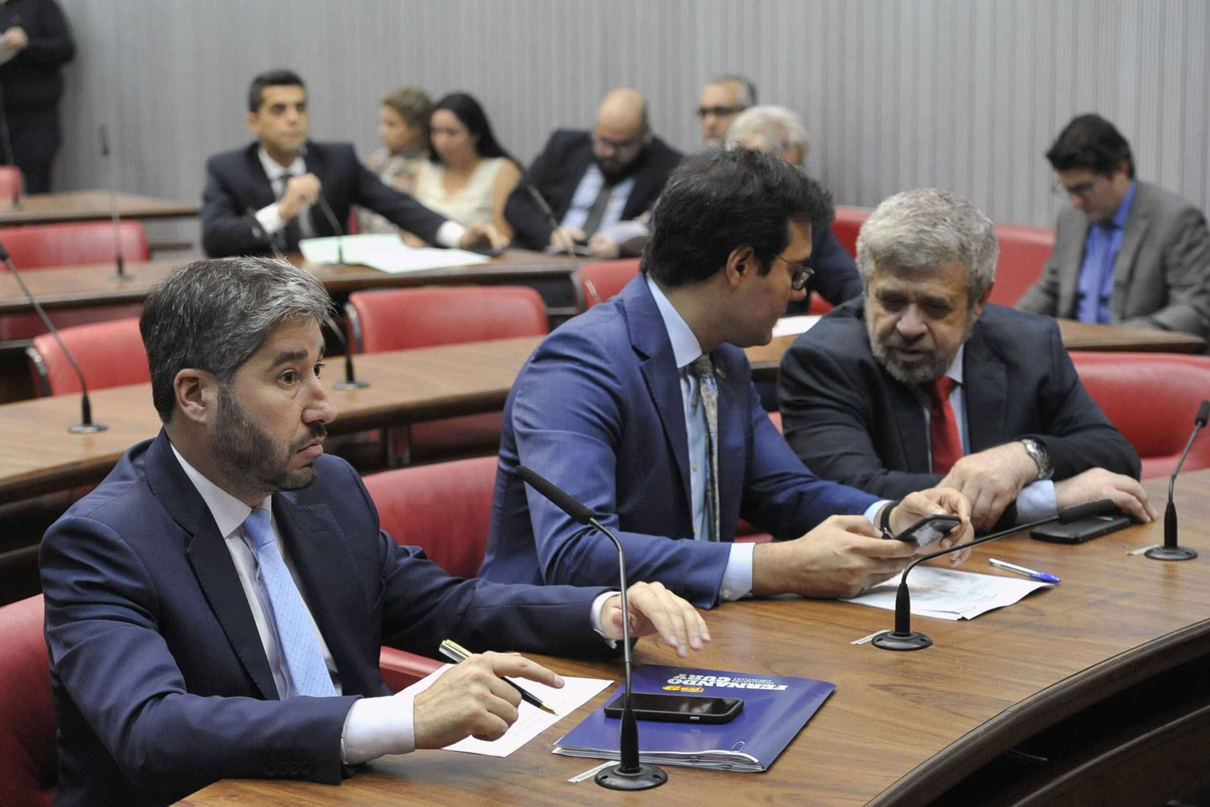 Parlamentares na comissão<a style='float:right' href='https://www3.al.sp.gov.br/repositorio/noticia/N-04-2019/fg233429.jpg' target=_blank><img src='/_img/material-file-download-white.png' width='14px' alt='Clique para baixar a imagem'></a>