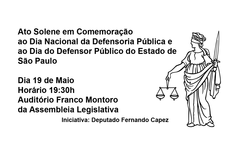 Ato solene comemora hoje o Dia Nacional da Defensoria Pública<a style='float:right' href='https://www3.al.sp.gov.br/repositorio/noticia/N-05-2015/fg170470.jpg' target=_blank><img src='/_img/material-file-download-white.png' width='14px' alt='Clique para baixar a imagem'></a>