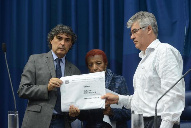 Carlos Giannazi, Leci Brandão e Joaquim Adelino de Azevedo Filho