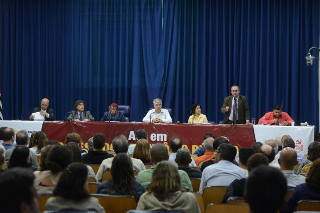 José Zico Prado fala no ato público