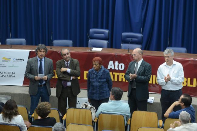 Carlos Giannazi, José Zico Prado, Leci Brandão, Carlos Neder e Joaquim Adelino de Azevedo Filho