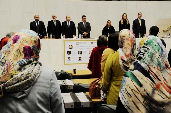 Homenagem à comunidade turca na Alesp.