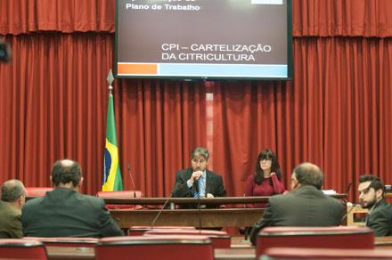 CPI da Cartelização da Citricultura reúne-se no plenário José Bonifácio