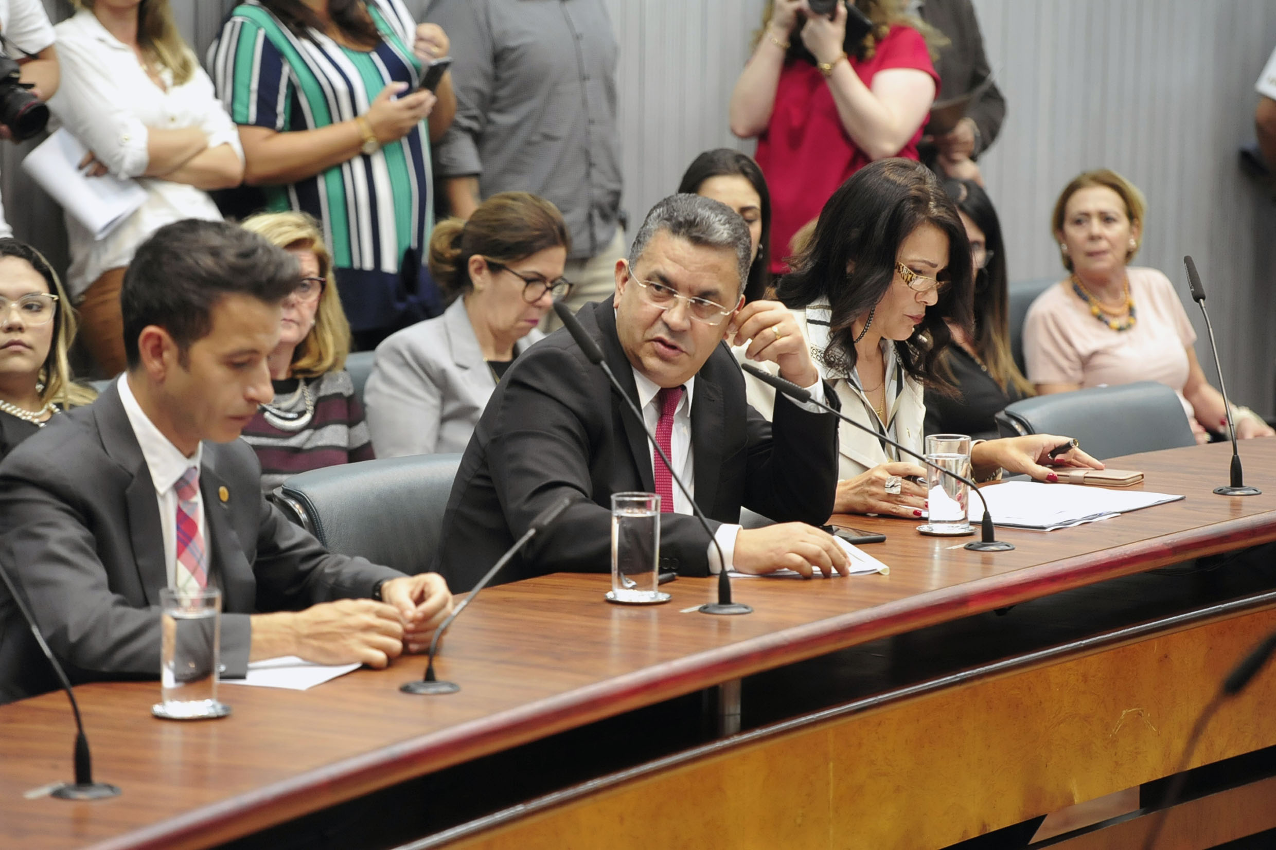 Parlamentares na comissão<a style='float:right' href='https://www3.al.sp.gov.br/repositorio/noticia/N-05-2019/fg234069.jpg' target=_blank><img src='/_img/material-file-download-white.png' width='14px' alt='Clique para baixar a imagem'></a>