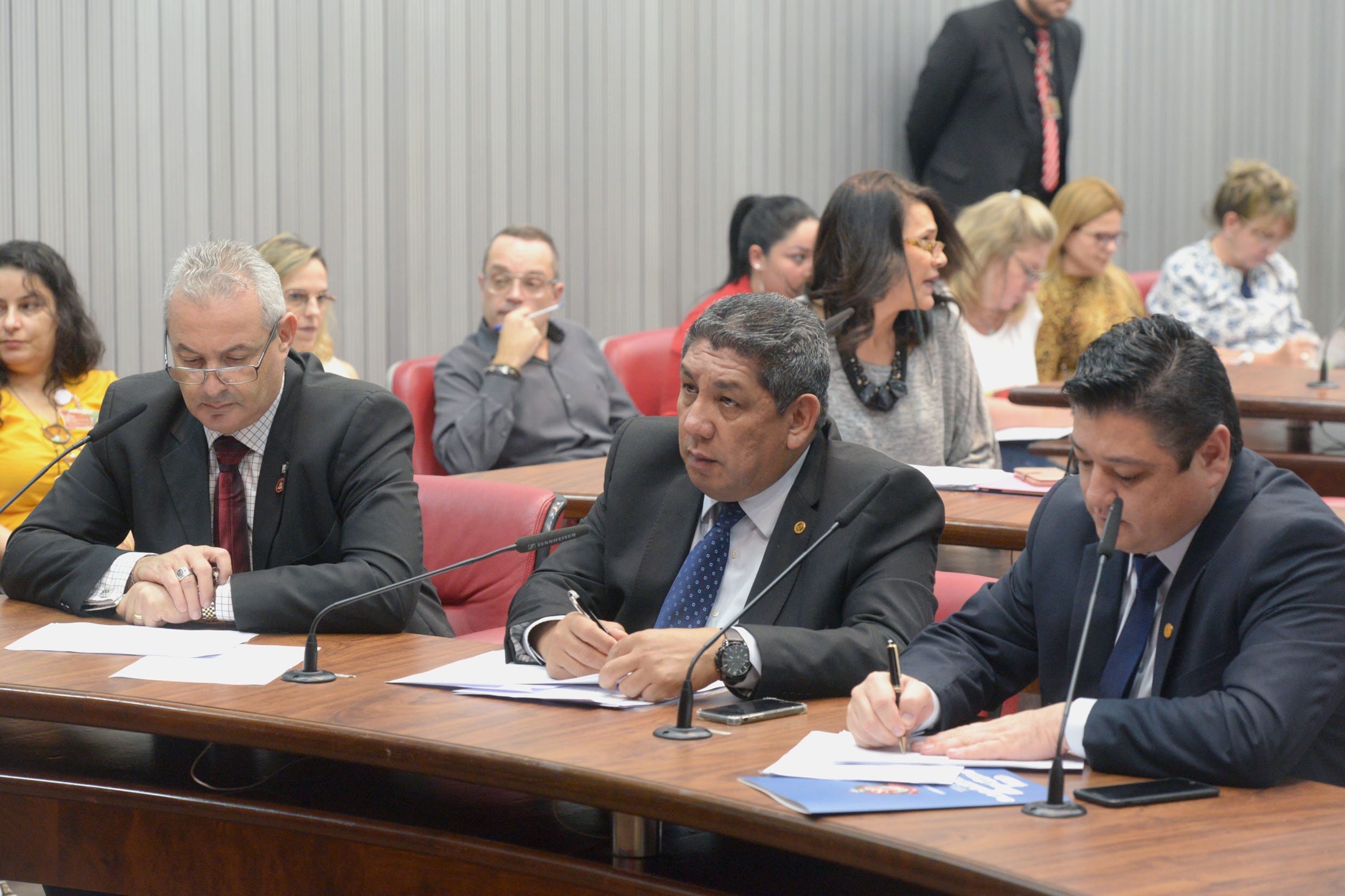 Parlamentares na comissão<a style='float:right' href='https://www3.al.sp.gov.br/repositorio/noticia/N-05-2019/fg234180.jpg' target=_blank><img src='/_img/material-file-download-white.png' width='14px' alt='Clique para baixar a imagem'></a>