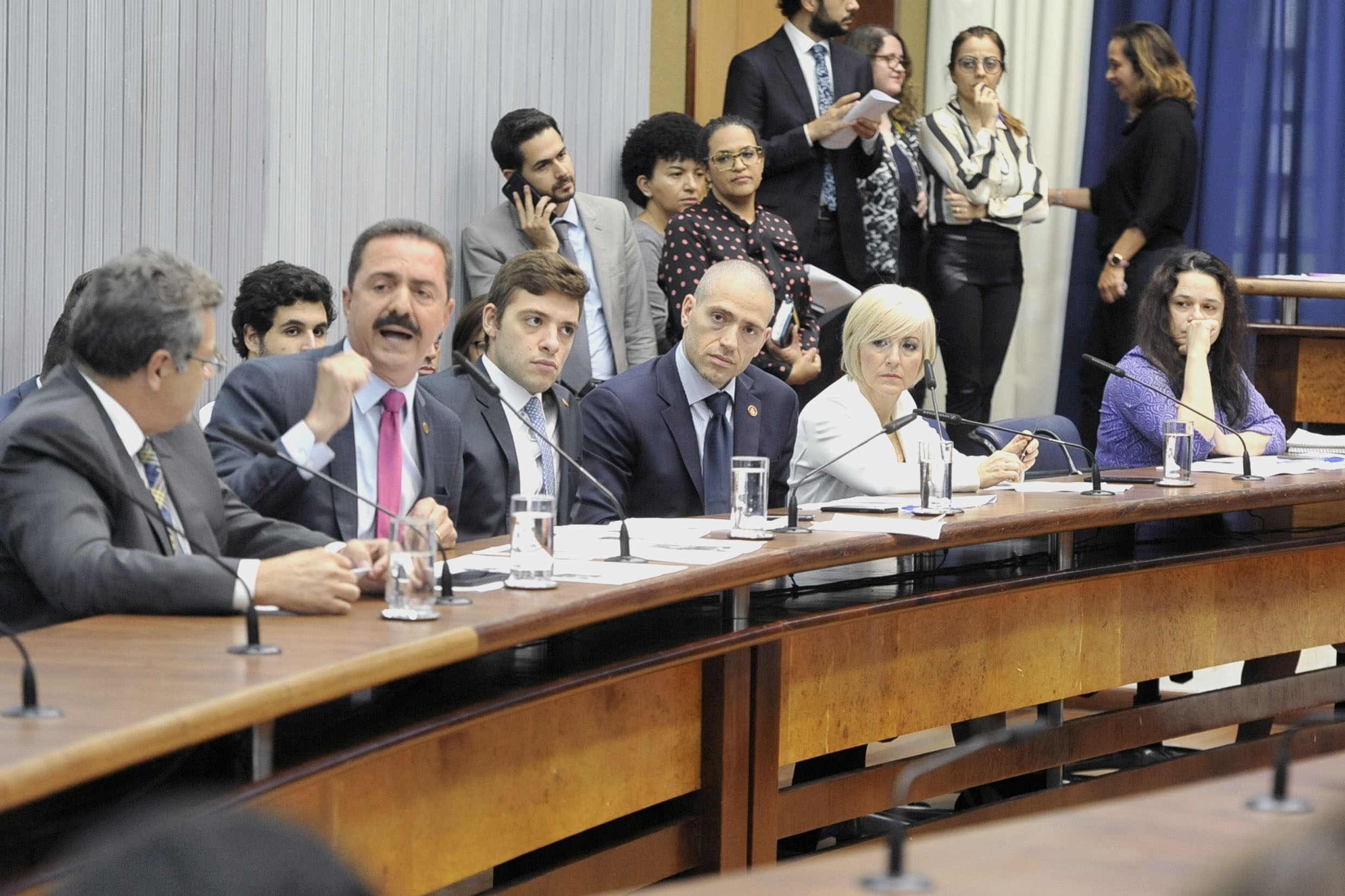 Parlamentares na comissão<a style='float:right' href='https://www3.al.sp.gov.br/repositorio/noticia/N-05-2019/fg234186.jpg' target=_blank><img src='/_img/material-file-download-white.png' width='14px' alt='Clique para baixar a imagem'></a>