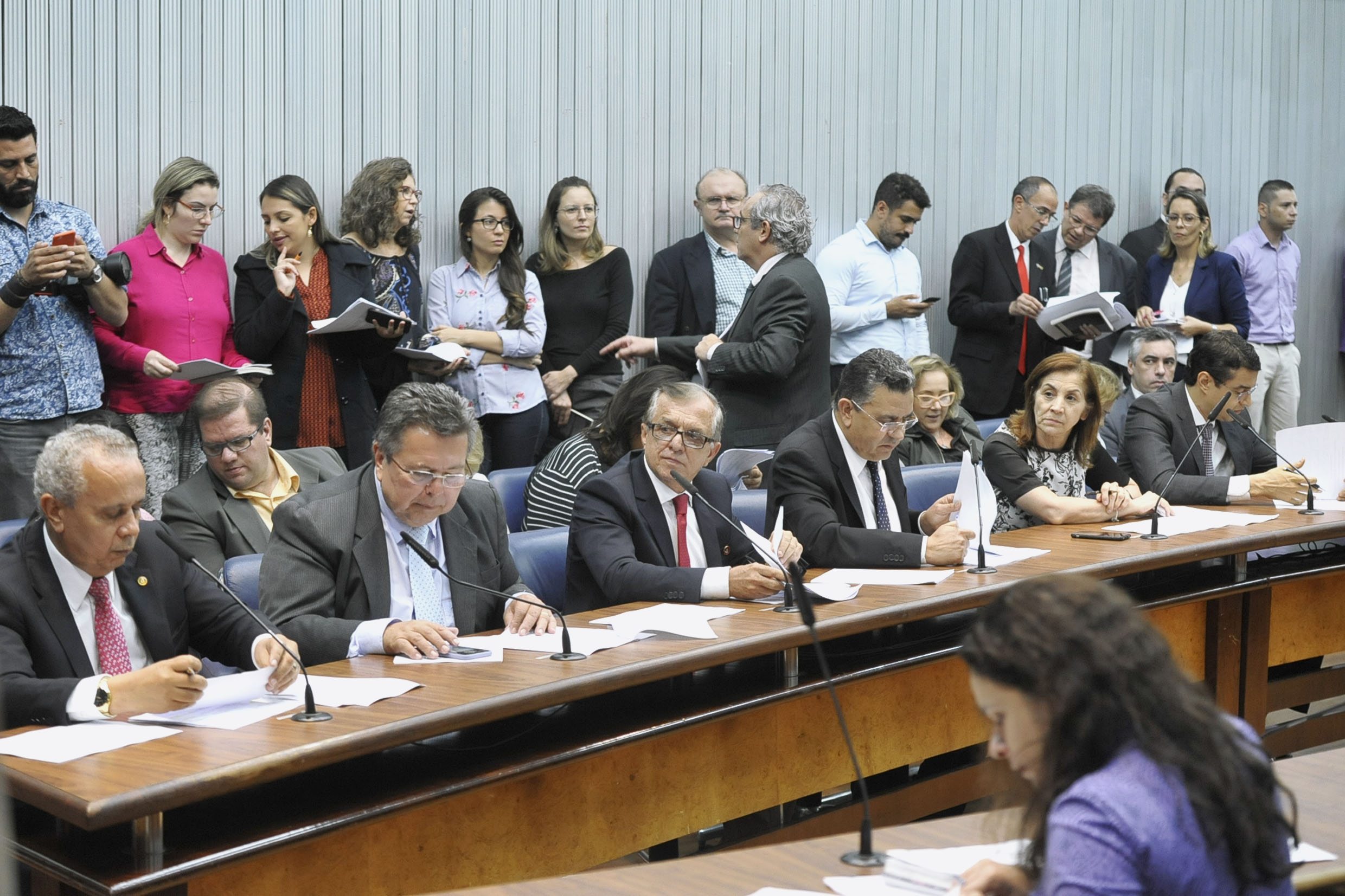 Parlamentares na comissão<a style='float:right' href='https://www3.al.sp.gov.br/repositorio/noticia/N-05-2019/fg234187.jpg' target=_blank><img src='/_img/material-file-download-white.png' width='14px' alt='Clique para baixar a imagem'></a>