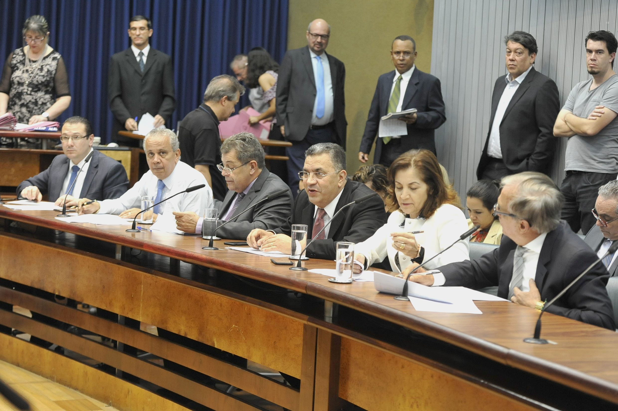 Parlamentares na comissão<a style='float:right' href='https://www3.al.sp.gov.br/repositorio/noticia/N-05-2019/fg234492.jpg' target=_blank><img src='/_img/material-file-download-white.png' width='14px' alt='Clique para baixar a imagem'></a>