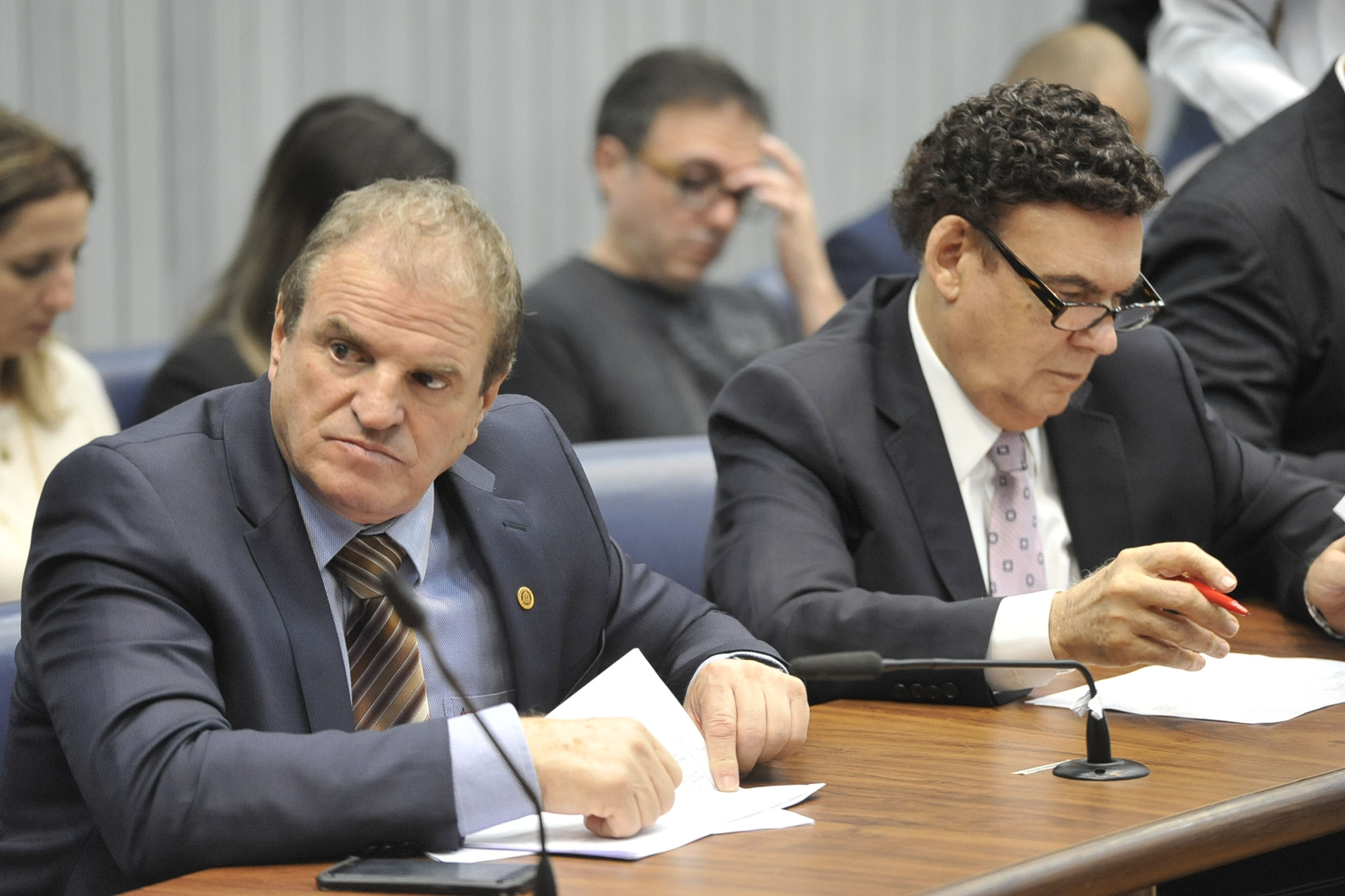 Parlamentares na comissão<a style='float:right' href='https://www3.al.sp.gov.br/repositorio/noticia/N-05-2019/fg234546.jpg' target=_blank><img src='/_img/material-file-download-white.png' width='14px' alt='Clique para baixar a imagem'></a>