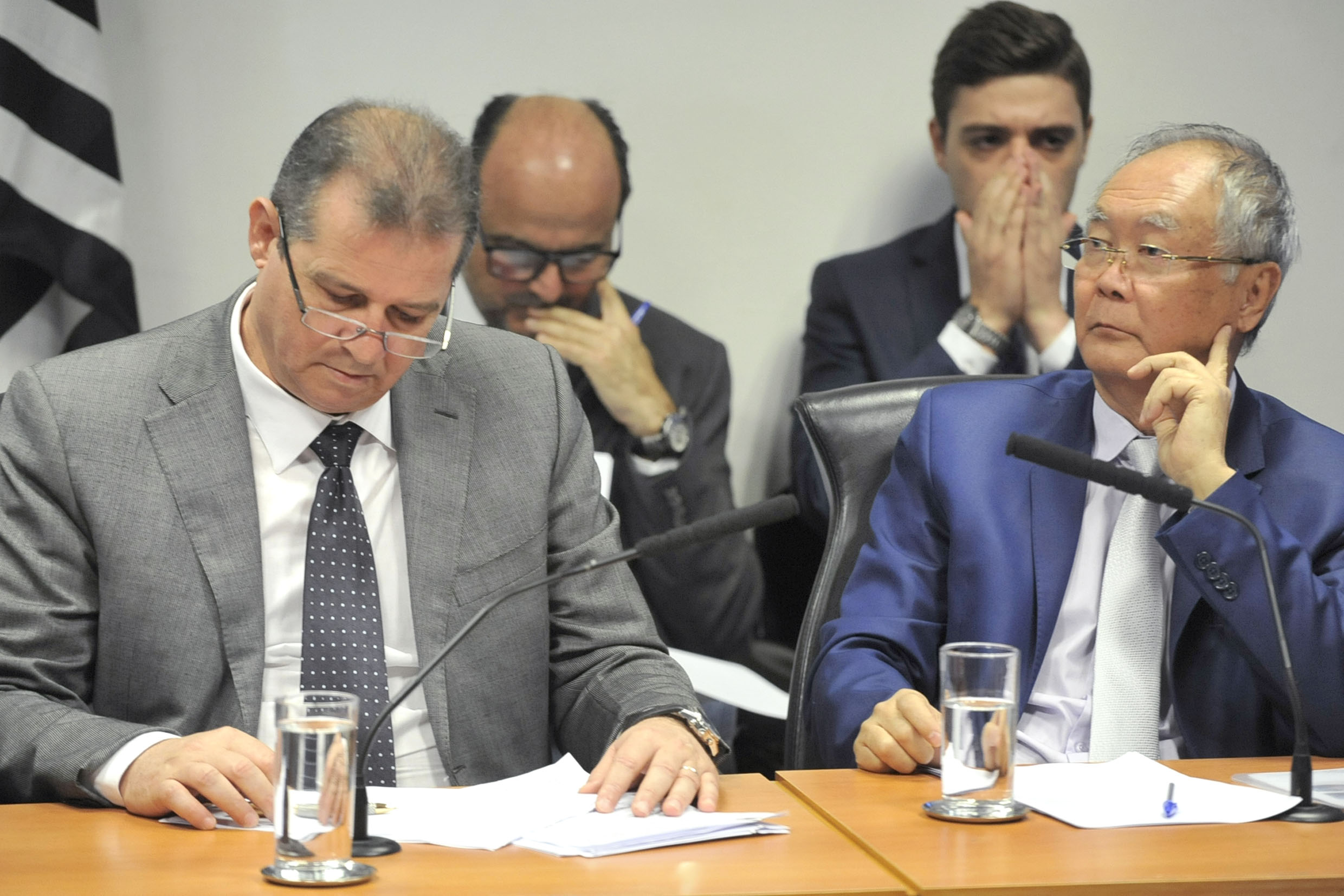 Parlamentares na comissão<a style='float:right' href='https://www3.al.sp.gov.br/repositorio/noticia/N-06-2019/fg236325.jpg' target=_blank><img src='/_img/material-file-download-white.png' width='14px' alt='Clique para baixar a imagem'></a>
