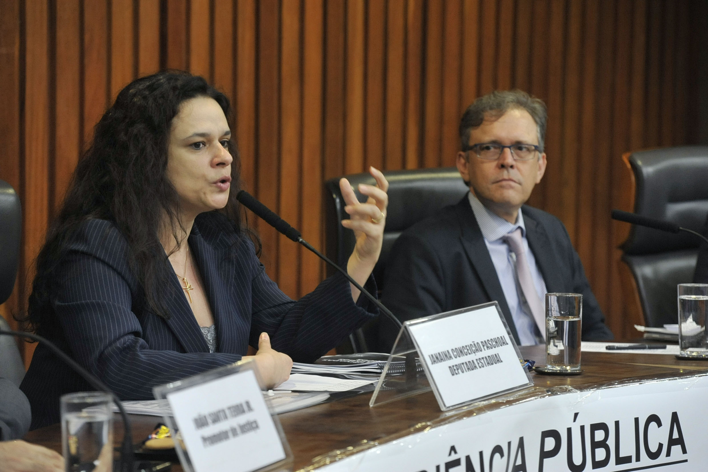Janaina Paschoal e José Mauricio Conti<a style='float:right' href='https://www3.al.sp.gov.br/repositorio/noticia/N-07-2019/fg236844.jpg' target=_blank><img src='/_img/material-file-download-white.png' width='14px' alt='Clique para baixar a imagem'></a>