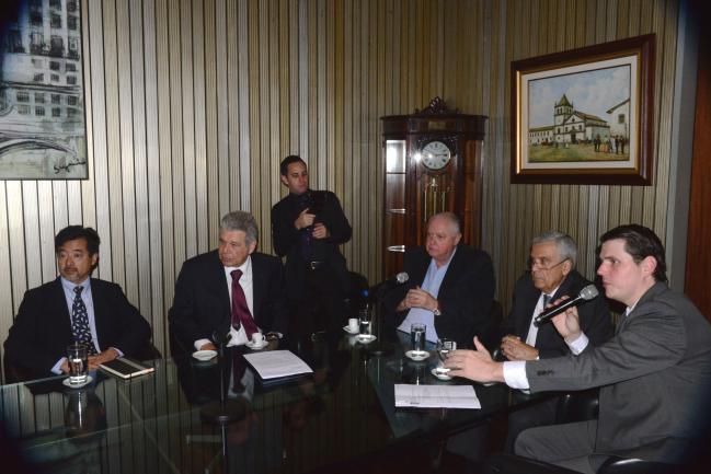 Hélcio Tokeshi, Jerson Kelman, Barros Munhoz, Benedito Braga e Cauê Macris