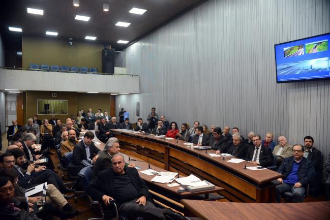 Deputados na reunião da Frente Parlamentar
