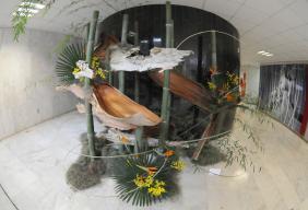 """Obra da mostra """"Com Ikebana... a primavera chegou"""""""