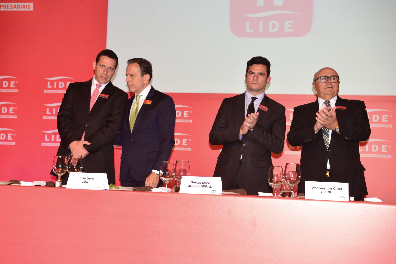 Fernando Capez, João Dória Jr., Sérgio Moro e o empresário Washington Cinel