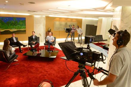 TV Assembleia grava primeiro programa Assembleia Seguran�a